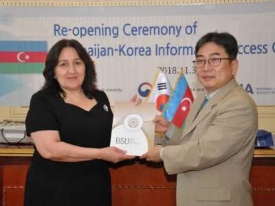 <p>BDU-da Azərbaycan-Koreya İnformasiya Təminatı Mərkəzi yenidənqurmadan sonra istifadəyə verilib</p>